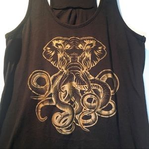 Tops - Elephant octopus tank top